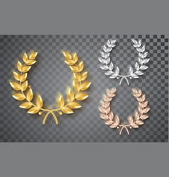 award laurel set isolated on a transparent vector image