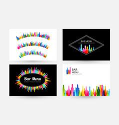 bar menu design collection horizontal banner vector image