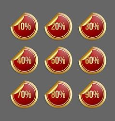 Bargain stickers vector image
