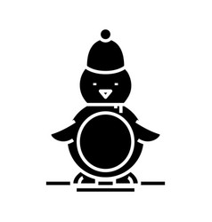 bird toy black icon concept vector image