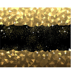 Black and golden abstract background vector