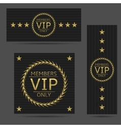Black VIP cards vector