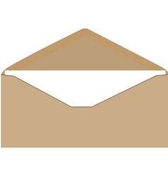 Brown envelope vector image