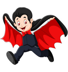 cartoon happy vampire isolated on white background vector image