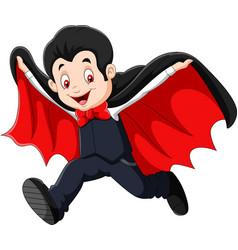 Cartoon happy vampire isolated on white background vector