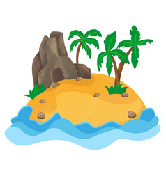 cartoon of the small tropical island vector image