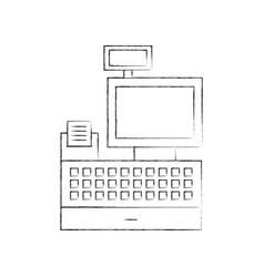 Cash register machine keypad display for vector