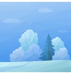 Christmas Landscape Forest Low Poly vector image