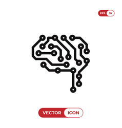 circuit icon vector image