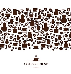 Coffee horizontal vector