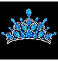 Crown tiara women vector