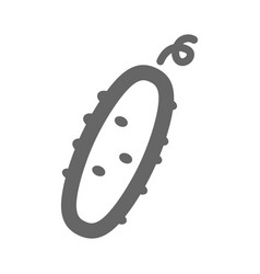 cucumber outline icon vegetable vector image
