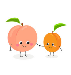 cute cartoon peach and apricot vector image