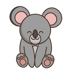 Cute koala icon vector