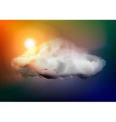 Dark Cloud with Rain vector