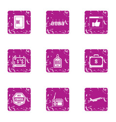 disposal icons set grunge style vector image