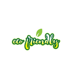 eco friendly word font text typographic logo vector image
