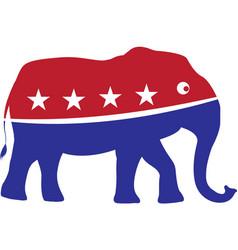 elephant isolated on white background vector image