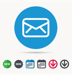 Envelope icon send message sign vector