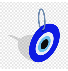 evil eye turkish amulet isometric icon vector image