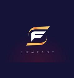 F letter logo design modern letter template vector