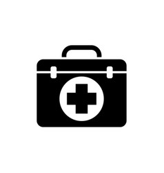 first aid kit icon design template isolated vector image