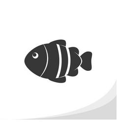 Fish silhouette icon simple flat style vector
