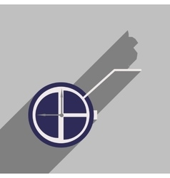 Flat design modern icon Watch vector image