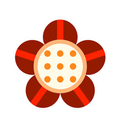 flat icon of a flower colored object on a white vector image
