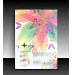 Floral Pamphlet vector