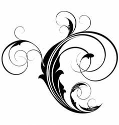 Flourish element vector