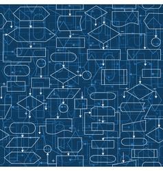 flowchart diagrams seamless pattern vector image