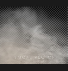 Fog and smoke isolated on transparent vector
