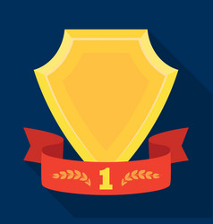 golden award with red ribbonthe medal of valor vector image