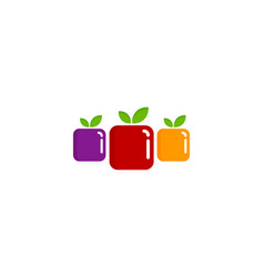 Group fruit logo icon design vector