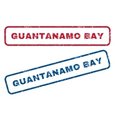 Guantanamo Bay Rubber Stamps vector