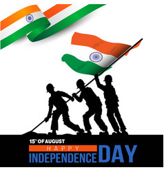 Happy independence day india template design vector