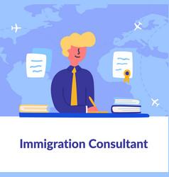 Informative flyer written immigration consultant vector