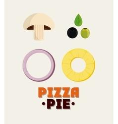 Ingredient of Pizza pie design vector
