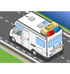 isometric camper in rear view vector image