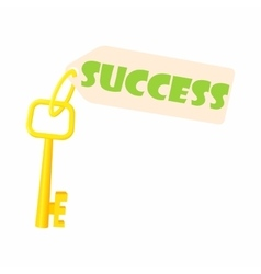 Key to success icon cartoon style vector image