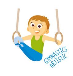 kinds of sports athlete gymnastics artistic vector image