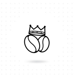 king coffee icon vector image