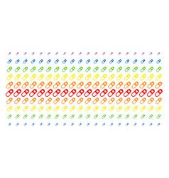 Love granule shape halftone spectral pattern vector