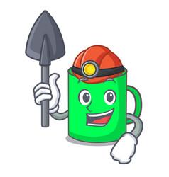 Miner mug mascot cartoon style vector