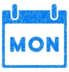 Monday Calendar Page Grainy Texture Icon vector image