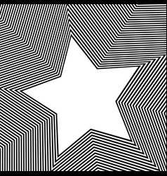 Monochrome background with 5 point star shape vector