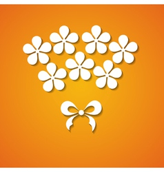 paper flowers and a bow vector image