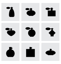 Perfume icon set vector