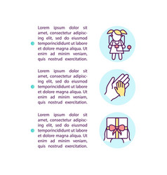 Preparing kids for testing tips concept icon vector